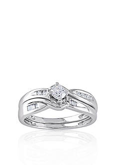 Belk & Co. 1/3 ct. t.w. Diamond Bridal Ring Set in 10k White Gold