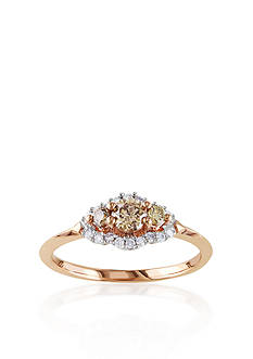 Belk & Co. Brown Diamond Engagement Ring in 10k Rose Gold