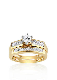 Belk & Co. 1 ct. t.w. Diamond Bridal Set in 14k Yellow Gold