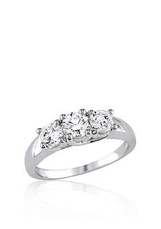 Belk & Co. 1 ct. t.w. Diamond Three Stone Engagement Ring in 14k White Gold