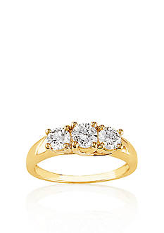 Belk & Co. 1 ct. t.w. Diamond Three Stone Engagement Ring in 14k Yellow Gold