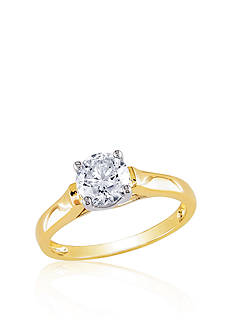 Belk & Co. Diamond Solitaire Ring in 14k Yellow Gold
