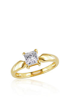 Belk & Co. Diamond Solitaire Ring in 14k Yellow Gold<br>