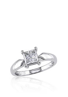 Belk & Co. Diamond Solitaire Ring in 14k White Gold