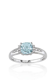 Belk & Co. 10k White Gold Aquamarine Ring