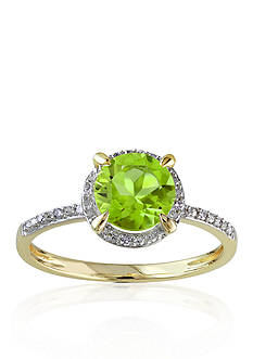 Belk & Co. 10k Yellow Gold Peridot and Diamond Ring