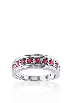 Belk & Co. 10k White Gold Ruby Ring
