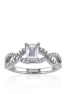 Belk & Co. 7/8 ct.t.w. Diamond Engagement Ring in 14k White Gold