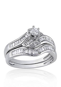 Belk & Co. 1/2 ct. t.w. Diamond Bridal Ring Set in 14k White Gold