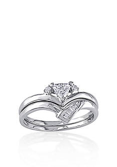 Belk & Co. 1/3 ct. t.w. Diamond Bridal Ring Set in 14k White Gold