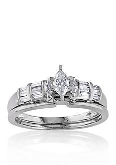 Belk & Co. 1/2 ct. t.w. Diamond Bridal Ring Set in 10k White Gold