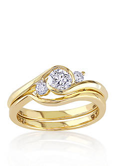 Belk & Co. 1/2 ct. t.w. Diamond Bridal Ring Set in 10k Yellow Gold