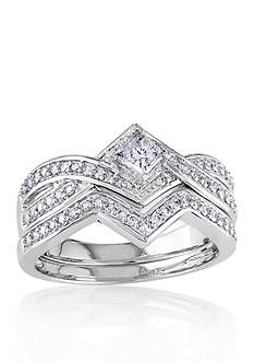 Belk & Co. 5/8 ct. t.w. Diamond Bridal Ring Set in 14k White Gold