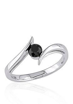 Belk & Co. Black Diamond Solitaire Promise Ring in 10k White Gold