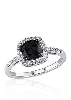 Belk & Co. 1.02 ct. t.w. Black and White Diamond Engagement Ring in 14k White Gold