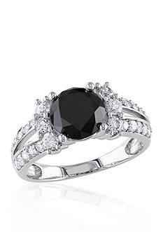 Belk & Co. 2.60 ct. t.w. Black and White Diamond Engagement Ring in 14k White Gold