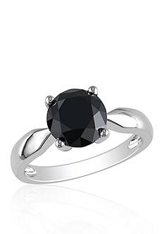 Belk & Co. 3 ct. t.w. Black Diamond Solitaire Engagement Ring in 10k White Gold