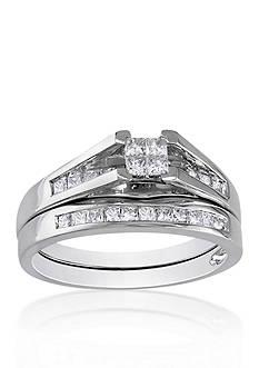 Belk & Co. 1/2 ct. t.w. Diamond Bridal Ring Set in 14k White Gold