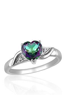 Belk & Co. 10k White Gold Exotic Green Topaz and Diamond Ring