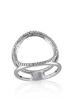 Belk & Co. Diamond Open Circle Ring in Sterling Silver