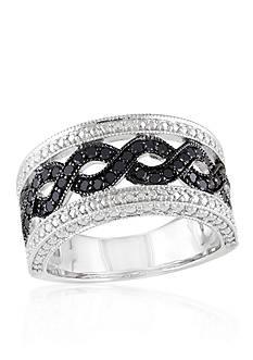 Belk & Co. Black Diamond Open Link Band in Sterling Silver