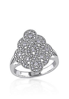 Belk & Co. Diamond Vintage Ring in Sterling Silver