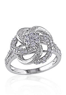 Belk & Co. Diamond Pinwheel Ring in Sterling Silver