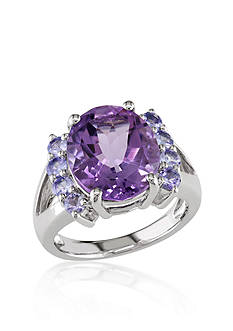 Belk & Co. Amethyst and Tanzanite Ring in Sterling Silver