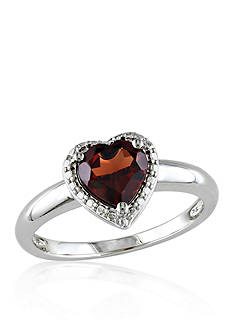 Belk & Co. Garnet Ring in Sterling Silver