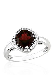 Belk & Co. Garnet Ring in Sterling Silver