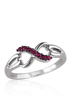 Belk & Co. Ruby Infinity Ring in Sterling Silver