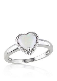 Belk & Co. Sterling Silver Opal Ring