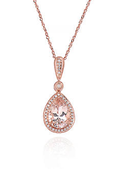 Belk & Co. 14k Rose Gold Morganite and Diamond Pendant
