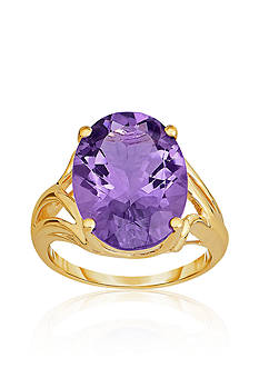 Belk & Co. 10k Yellow Gold Amethyst Ring