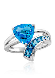 Belk & Co. Blue Topaz Ring in Sterling Silver