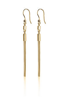 Argento Vivo Tassel Earrings in 18k Yellow Gold over Sterling Silver