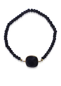 Argento Vivo Black Onyx and Black Spinel Bracelet in 18k Yellow Gold over Sterling Silver