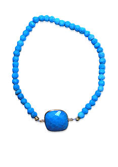 Argento Vivo Turquoise Bracelet in 18k Yellow Gold over Sterling Silver