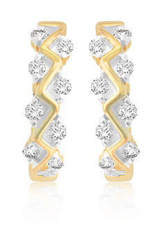 Belk & Co. Diamond Hoop S Earrings