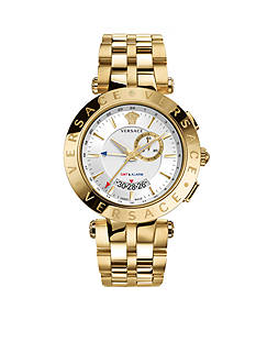 Versace Men's V-Race GMT Gold-Tone Watch
