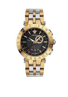 Versace Men's V-Race GMT Two-Tone Watch