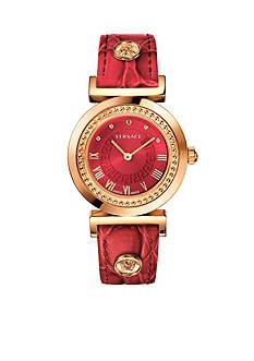 Versace Women's Vanity Red Watch