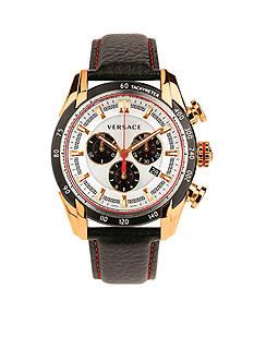 Versace Men's V-Ray Black Chronograph Watch