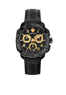 Versace Men's Dylos Black Chronograph Watch