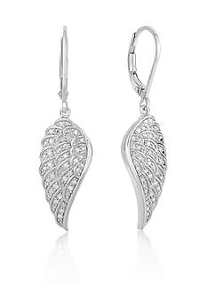 Belk & Co. Diamond Wing Earrings in Sterling Silver