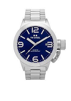 TW Steel Men's Silver Blue Dial Watch