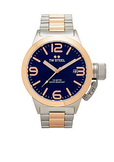 TW Steel Men's Two-Tone Blue Dial Watch