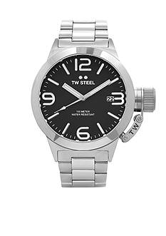 TW Steel Men's Silver Black Dial Watch
