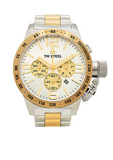 TW Steel Men's Big Case Two-Tone Chronograph Watch