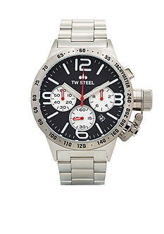 TW Steel Men's Big Case Chronograph Black Watch